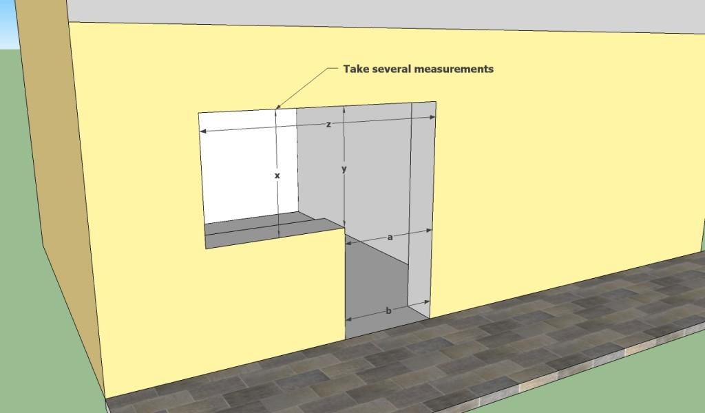 Window frame measurements