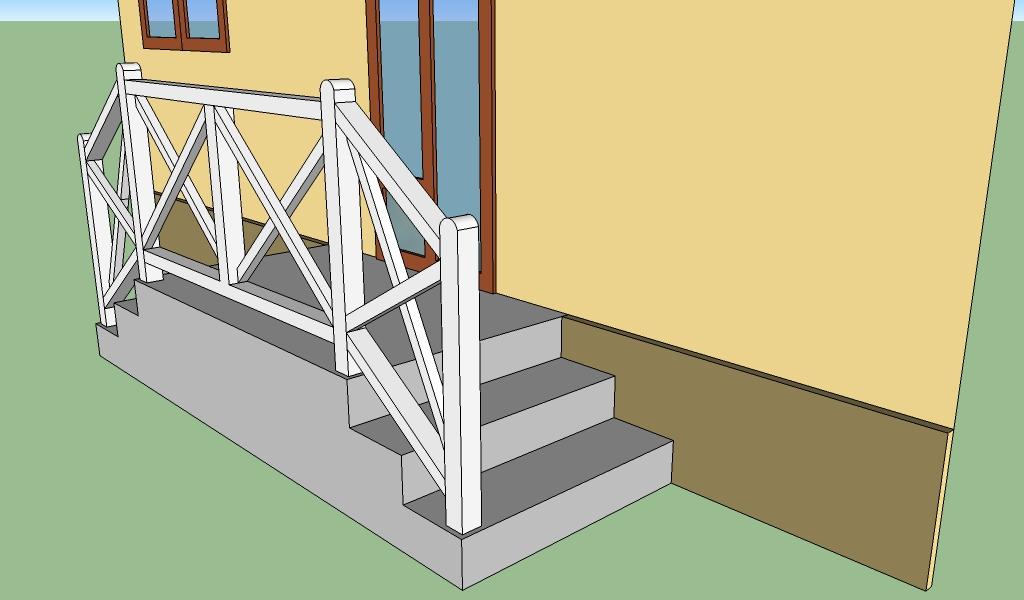 Concrete deck railing