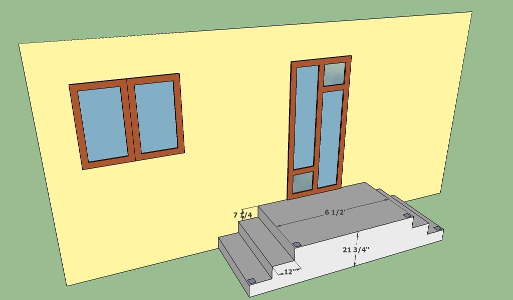 Concrete entrance deck