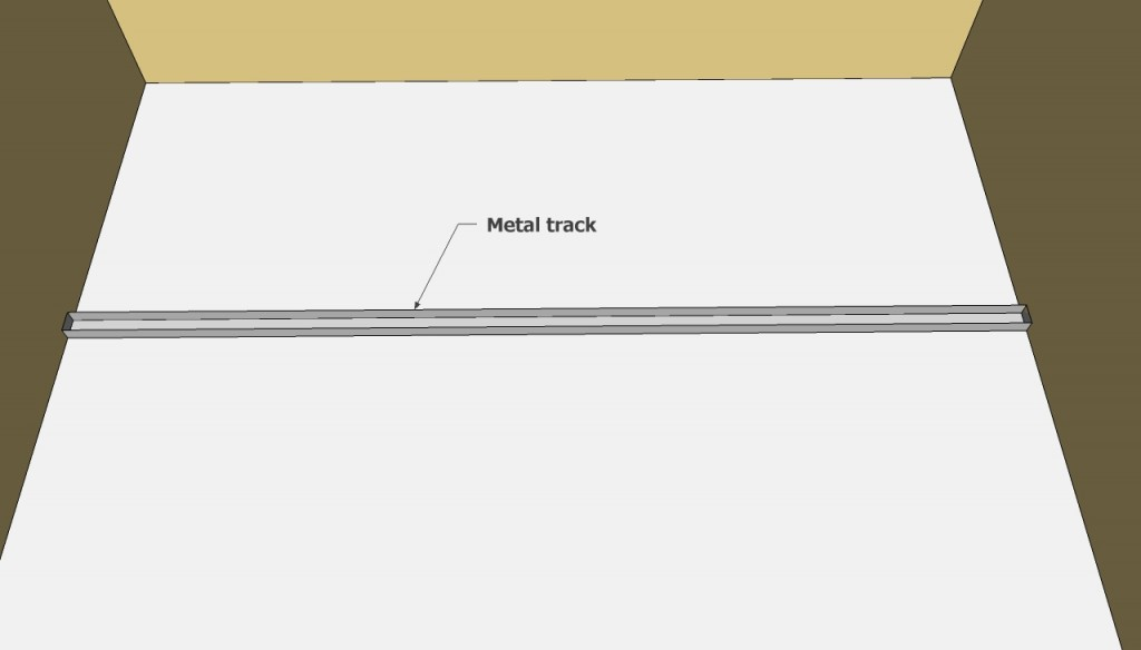 Metal track wall