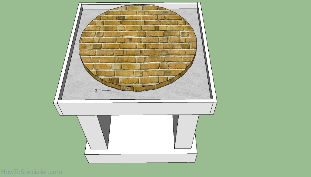 Pizza oven flooring free plans