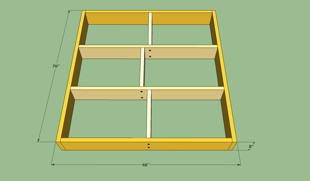 Platform bed base structure