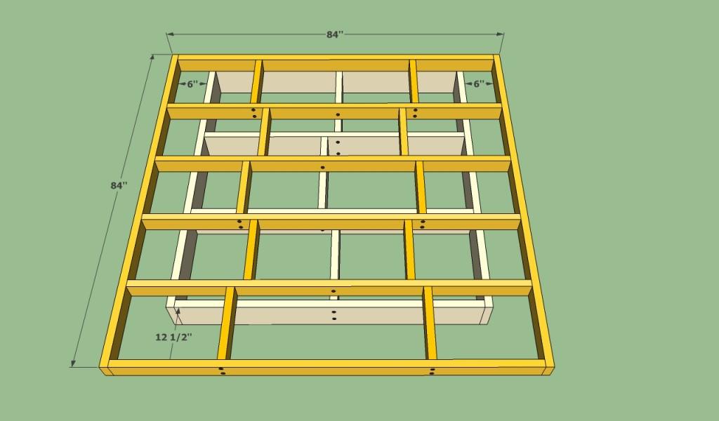Centering the platform frame on base
