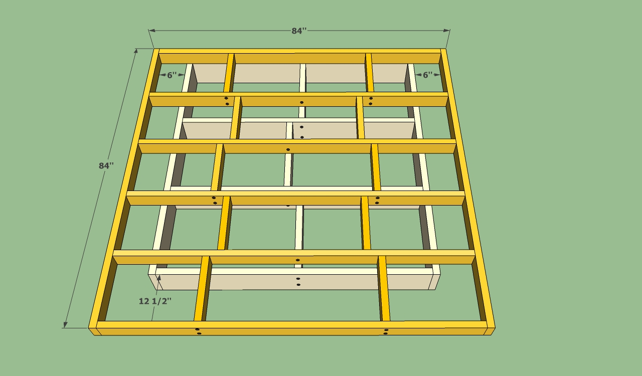 Pdf diy wood platform bed plans download wood magazine for Frame plan