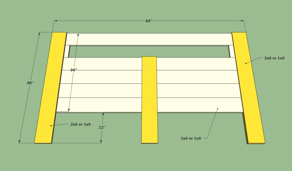Bed frame headboard