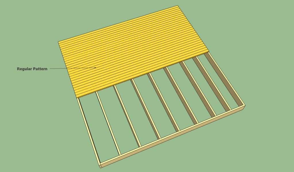 Regular decking pattern