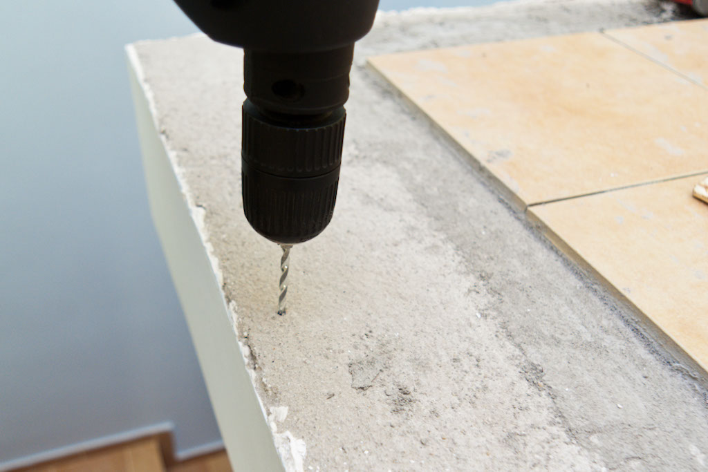 Drilling holes in concrete