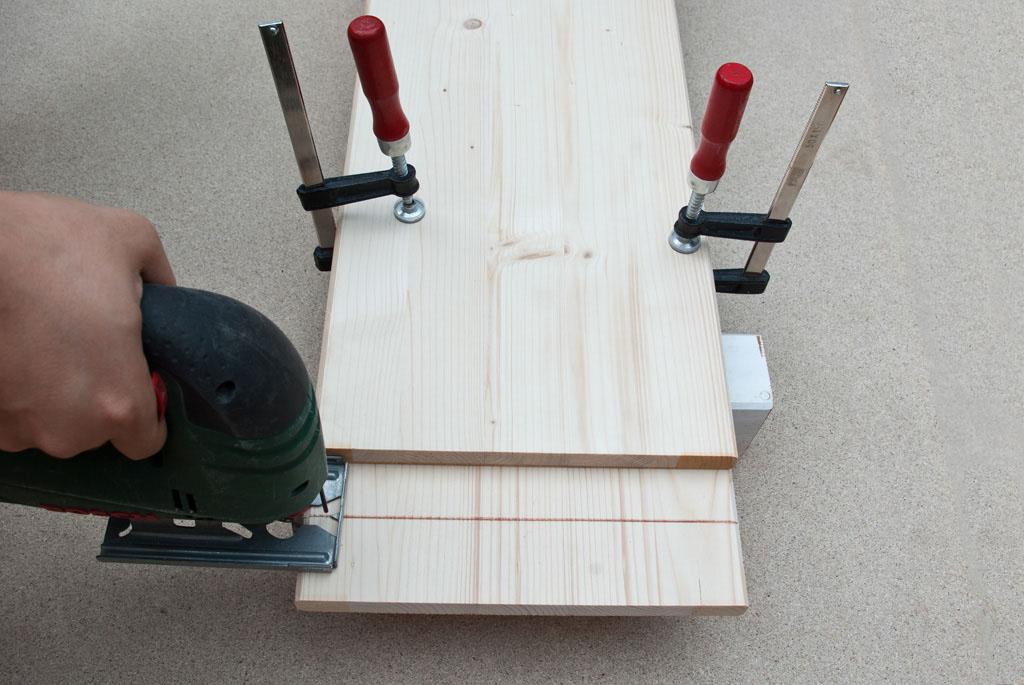 Straight line cut setup