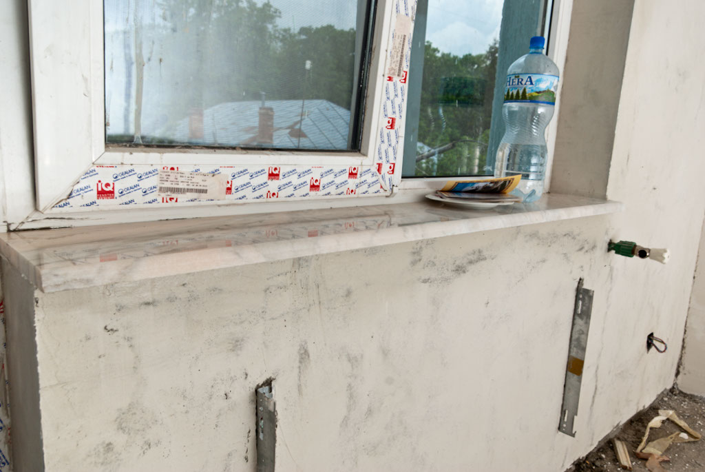 How to install marble window sill