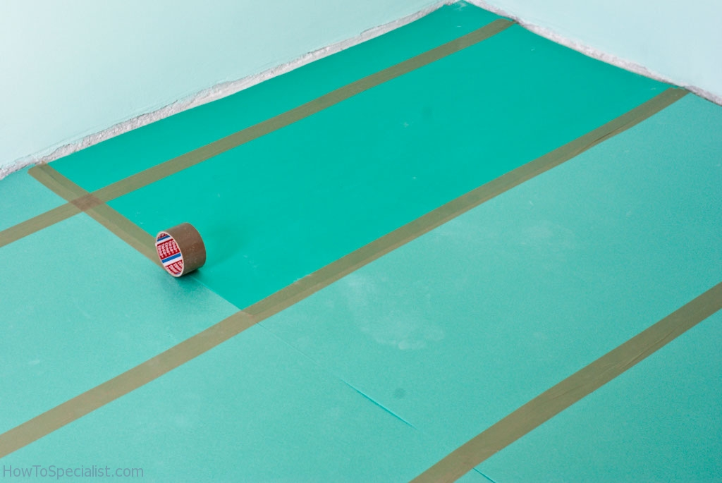 How to lay lunderlay for laminate flooring