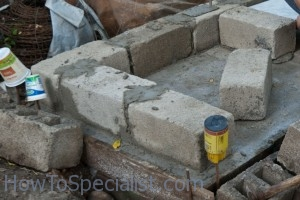 Building wood fired oven base