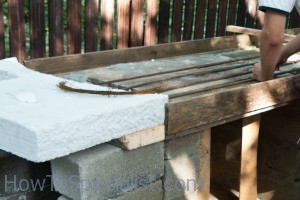 Using rebars to reinforce countertop