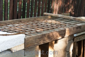 Reinforcing countertop with bars
