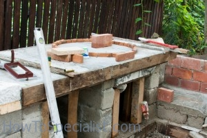 Building wood fired oven