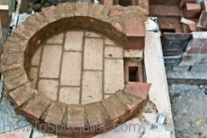 Building wood fired pizza oven