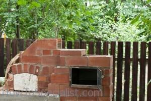 Brick pizza oven chimney