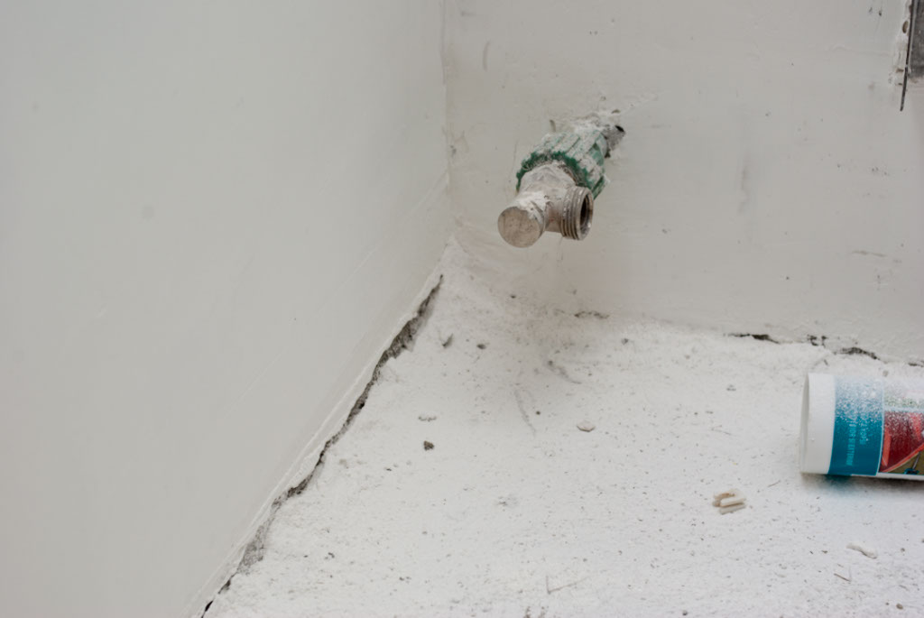 Dust from sanding wall