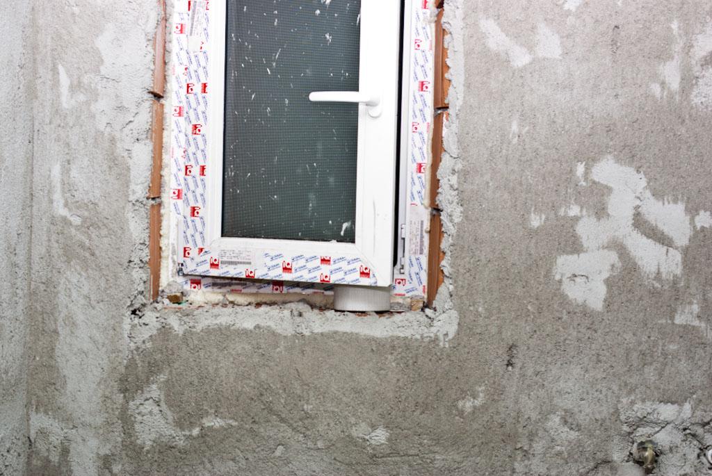 Tiling around window