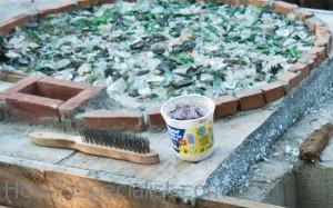 Shards of glass under base flooring
