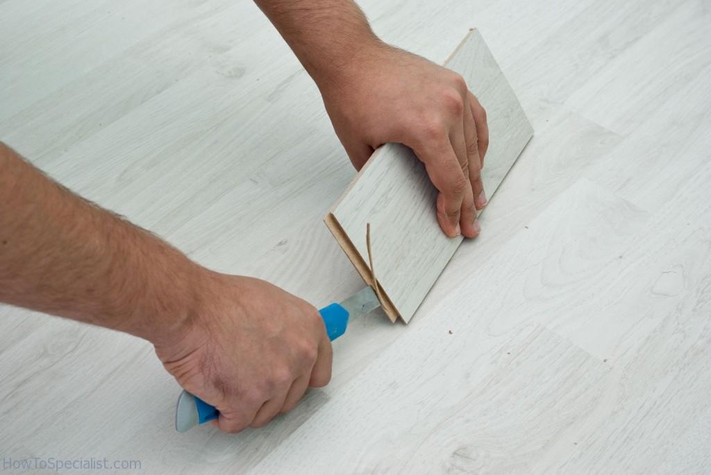 Cutting laminate groove