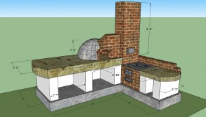 Outdoor kitchen free plans