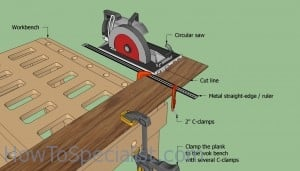 Cutting laminate flooring