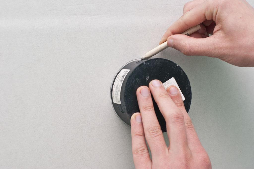 Drawing circular hole on drywall