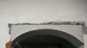 How to bend drywall
