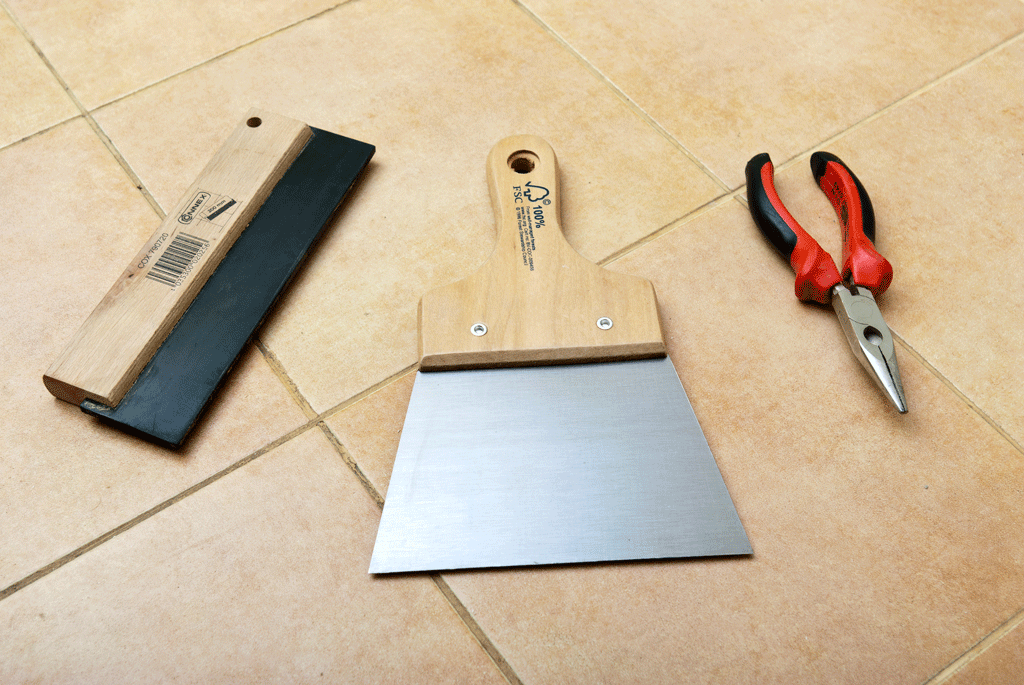 How to grout floor tiles