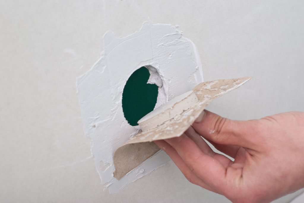 Patching a drywall hole