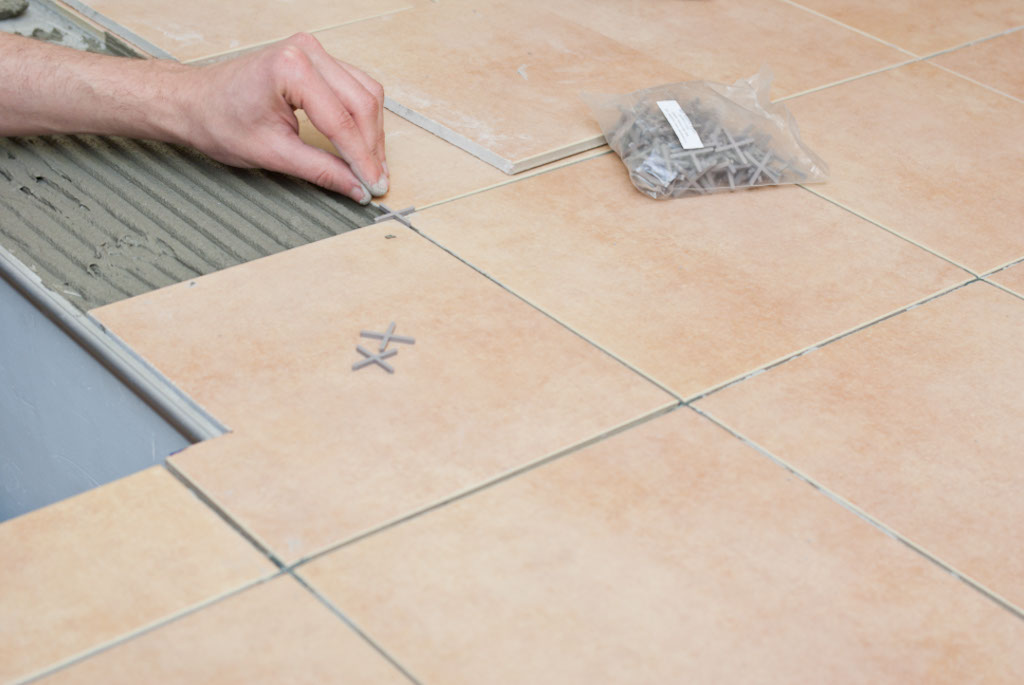 Installing tile spacers