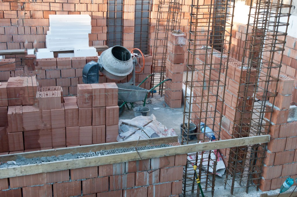 Building brick house