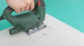 Cutting holes in drywall