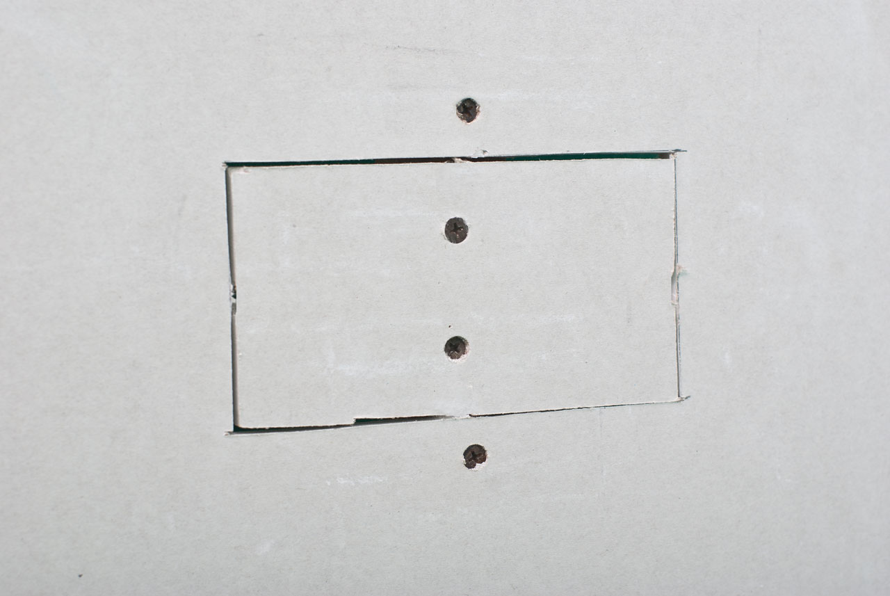 How to repair hole in drywall