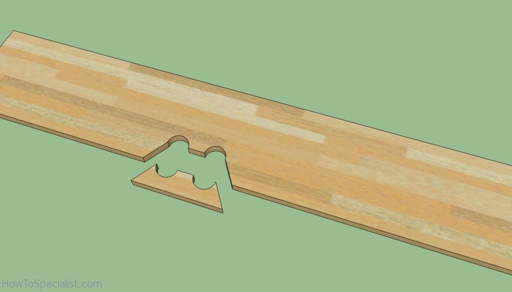Cutting laminate flooring around pipes