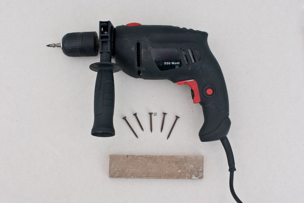 Tools for fixing small hole in drywall