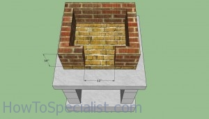 Wood fired oven lower walls