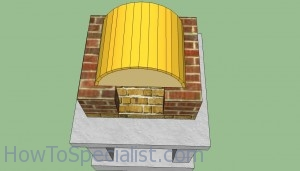 Wood fired pizza oven top arch template