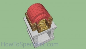 Wood fired oven chimney arch plans