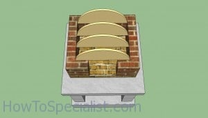 Wood fired pizza oven top template