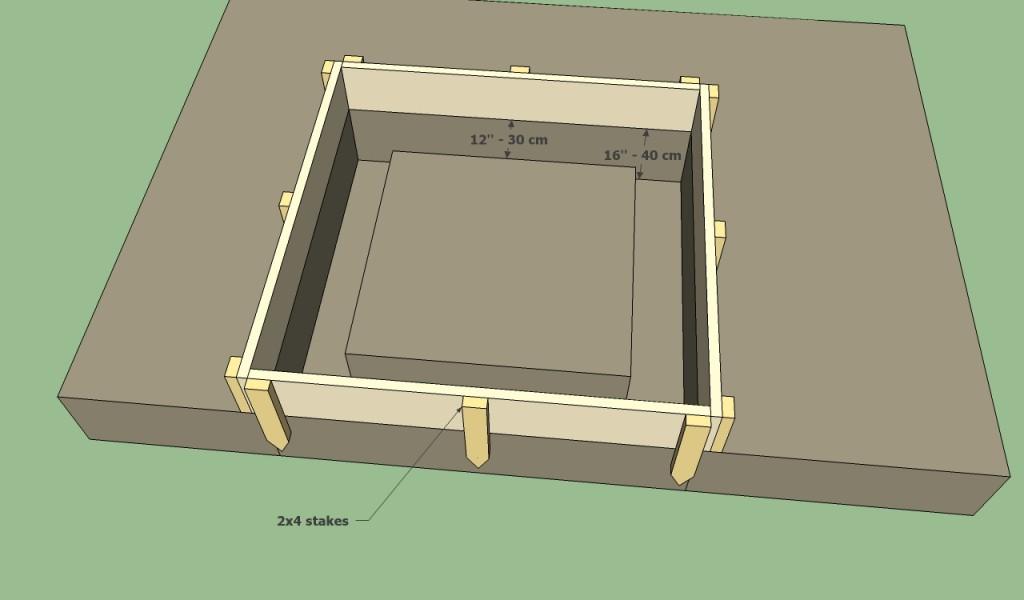 Barbeque pit foundation form