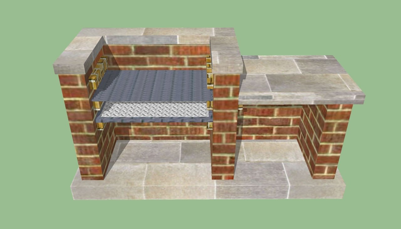 brick barbeque plans howtospecialist how to build step by step diy plans