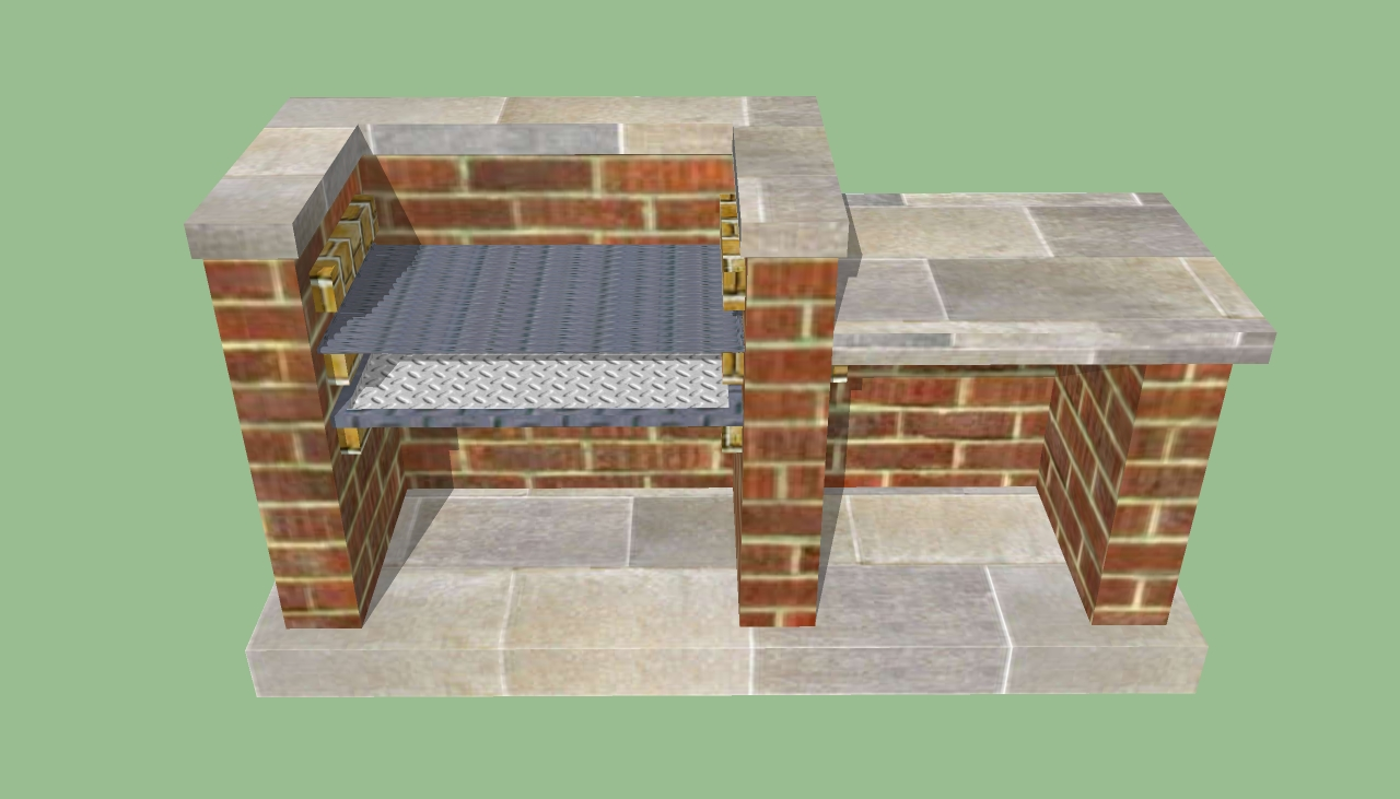Outdoor Brick BBQ Grill Plans