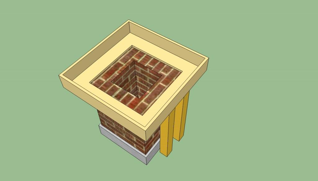 Brick barbeque countertop form