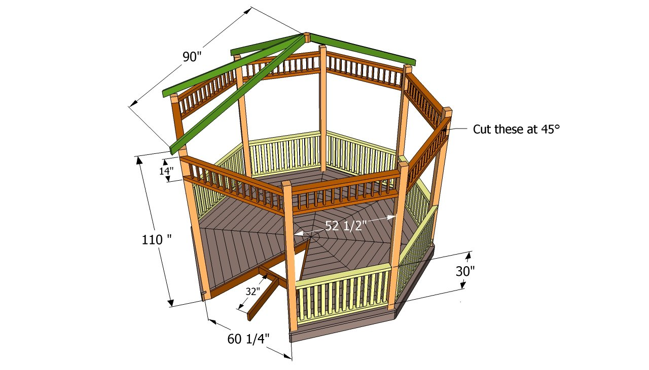 Gazebo Plans Free Howtospecialist How To Build Step