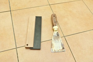 Tools for grouting wall tiles