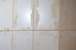 Cleaning excess grout off the wall tiles