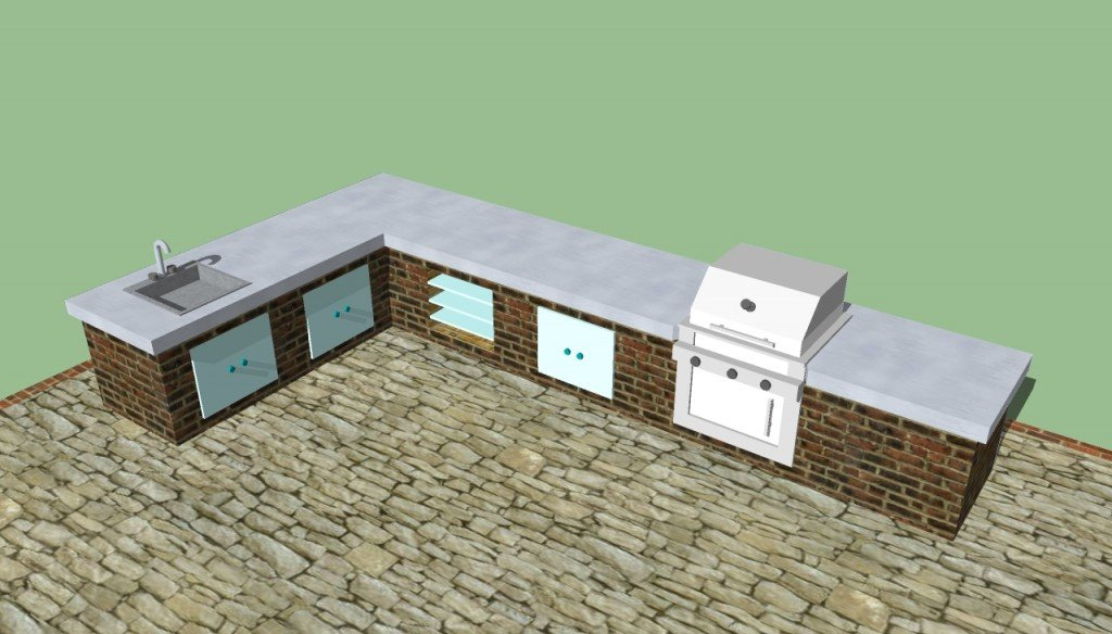 Small outdoor kitchen designs