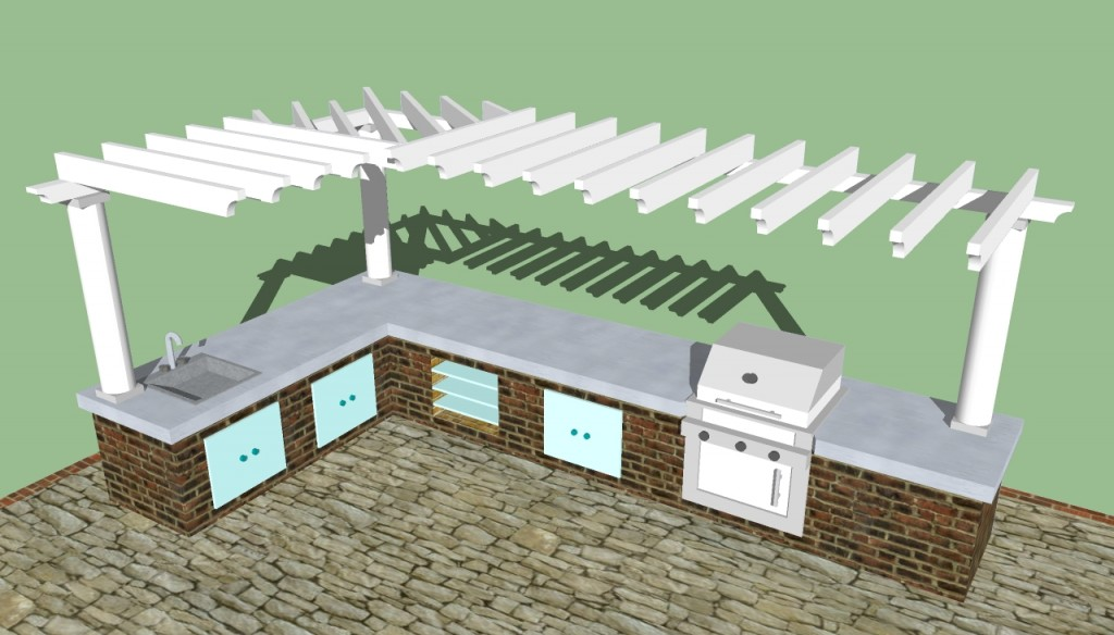 Outdoor kitchen designs howtospecialist how to build for Outside kitchen design plans