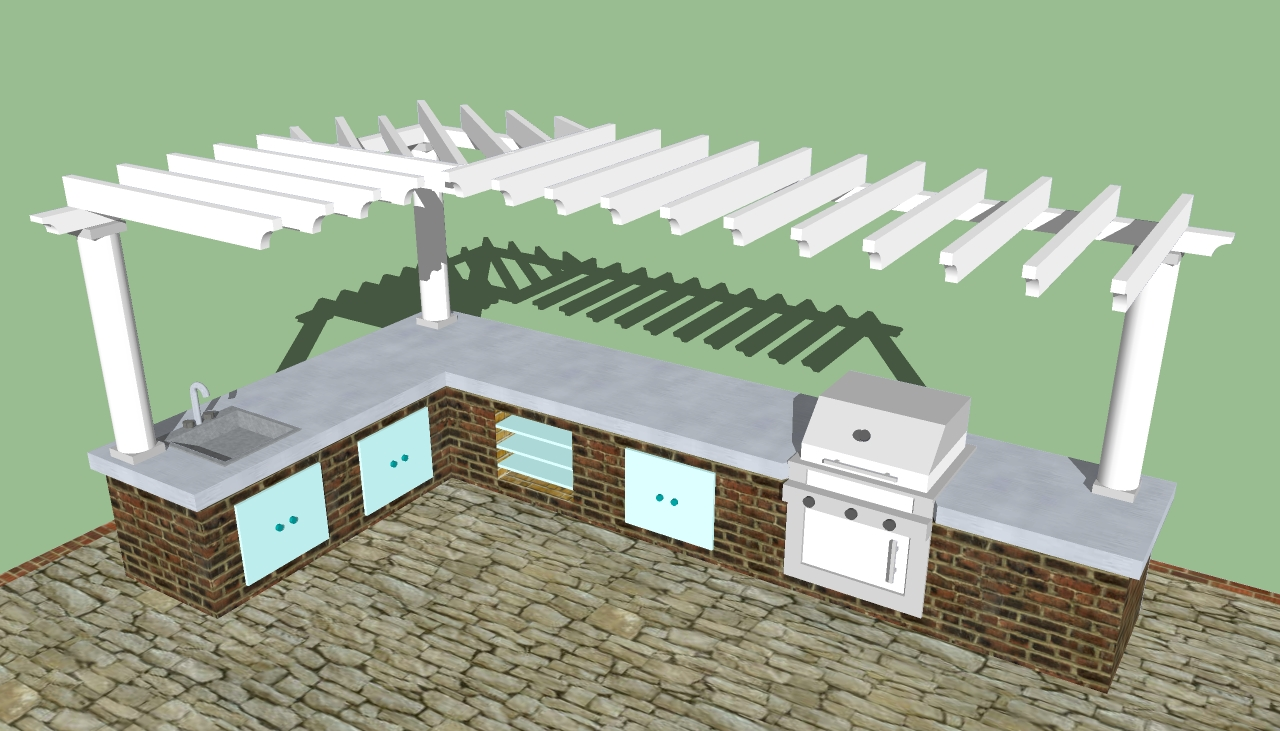 Outdoor kitchen designs howtospecialist how to build for Outdoor kitchen ideas plans